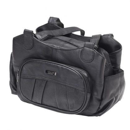 Ladies Soft Genuine Leather Dual Strap Shoulder Bag - Front