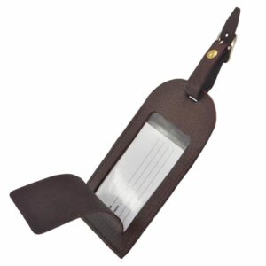 Genuine Leather Extra Large Luggage Tag with Buckle Fastening