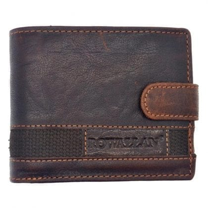 Mens Hand Finished Genuine Buffalo Leather Wallet by Rowallan - Front