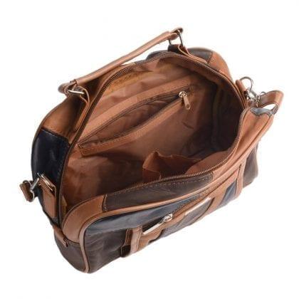 Ladies Soft Genuine Leather Cross Body - Shoulder Bag - Open