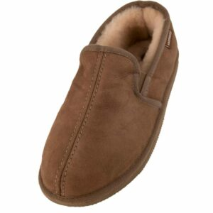 Mens Double Gusset Classic Sheepskin Slippers by Shepherd of Sweden - Main