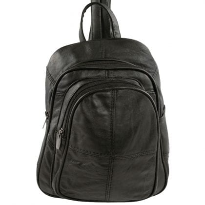 Ladies Soft Genuine Leather Dual Strap Backpack