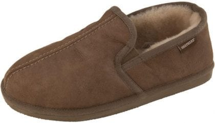 Mens Double Gusset Classic Sheepskin Slippers by Shepherd of Sweden - Profile