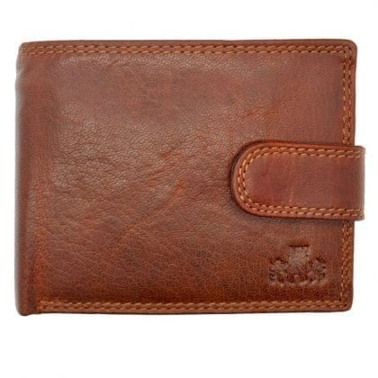 Mens Hand Finished Genuine Leather Organiser Wallet by Rowallan - Front