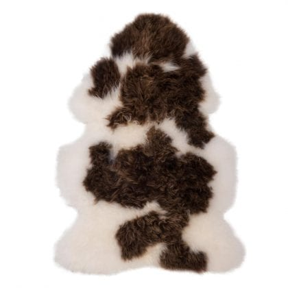 British Premium Quality Large Jacob Sheepskin Rug - Front