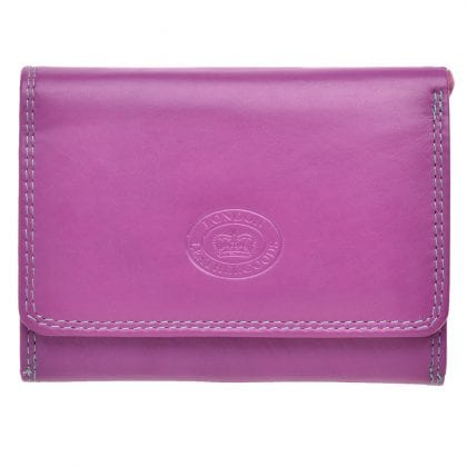 Ladies Soft Leather Compact Purse in Multi Colours