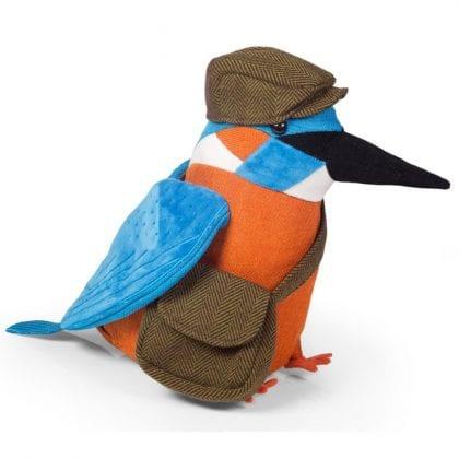 Dora Designs 'Country Folk Collection' Alcedo Kingfisher Doorstop - Front