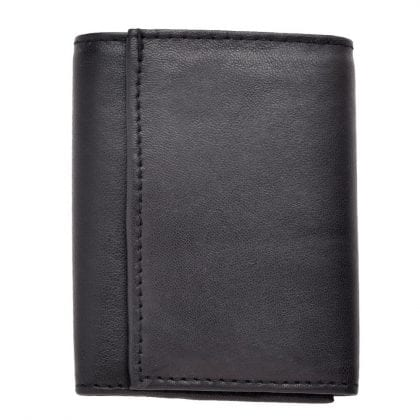 Genuine Soft Leather Popper Fastened Key Case Wallet