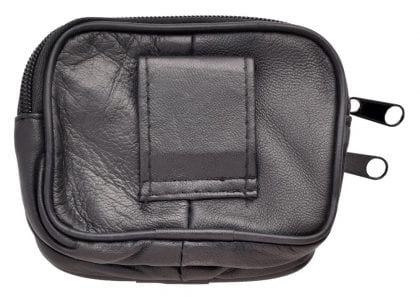 Genuine Soft Nappa Leather Pouch with Belt Loop - Open