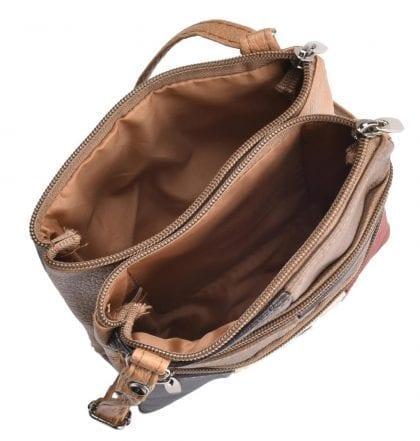 Ladies Small Cross Body - Shoulder Handbag - Open