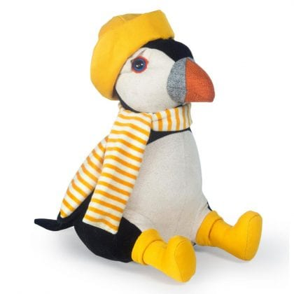Dora Designs 'Country Folk Collection' John Fischer Puffin Doorstop - Front