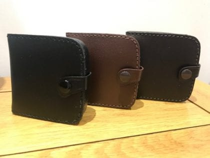 Genuine Leather Square Tray Purse with Note Section - Lifestyle