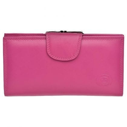 Ladies Soft Leather Matinee Purse with Clip Frame