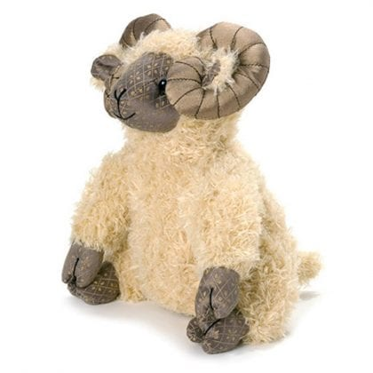 Dora Designs Traditional Aaron Ram Doorstop - Front