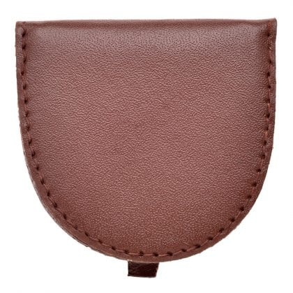 Compact Genuine Leather Small Coin - Tray Purse