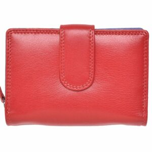 Ladies Premium Grade Super Soft Leather Dual Opening Purse in Multi Colours