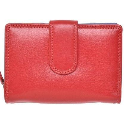 Ladies Premium Grade Super Soft Leather Dual Opening Purse in Multi Colours