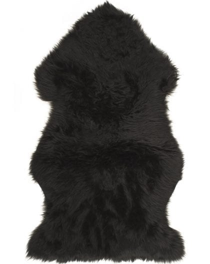 British Premium Quality Black Sheepskin Rug-0