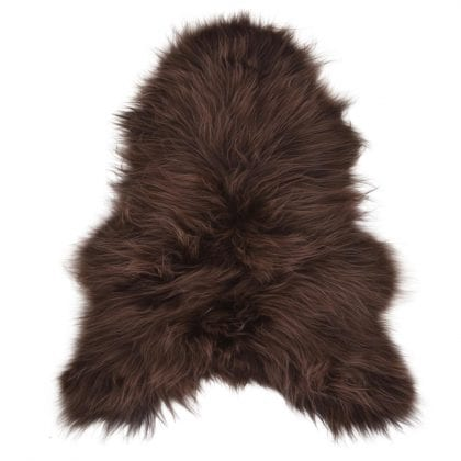 Long Wool Icelandic Chocolate Brown Sheepskin Rug - Main