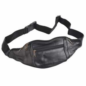 Arnicus Super Soft Leather Traditional Style Waist Bag - Front