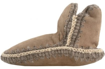 Ladies Genuine Merino Sheepskin Slipper Socks by Shepherd of Sweden - Side