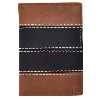Mens Compact Hunter Credit Card Wallet in Two Tone Leather