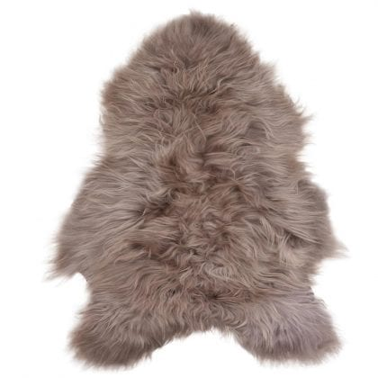 Long Wool Icelandic Taupe Sheepskin Rug - Main