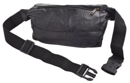 Arnicus Super Soft Leather Waist Bag with Multiple Zipped Pockets - Back