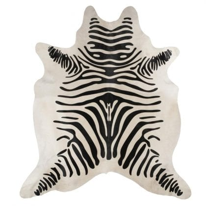 Super Size Zebra Print Genuine Cow Hides