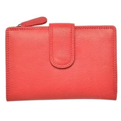 Ladies Super Soft Leather Bifold Purse with Zipped Coin Holder by Primehide-0