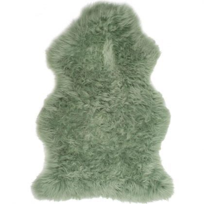British Premium Quality Sage Green Sheepskin Rug-0