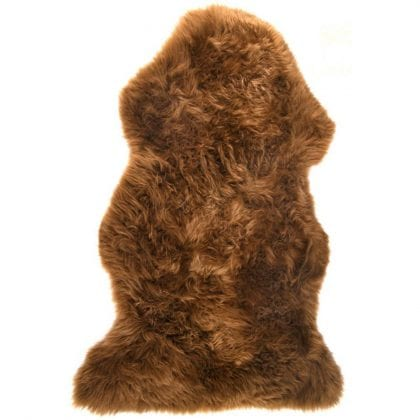 British Premium Quality Light Brown Sheepskin Rug-0