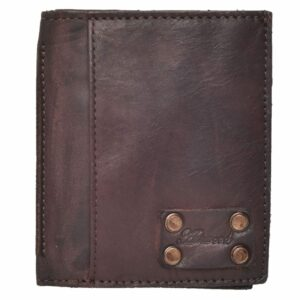 Mens Crinkle Leather Slim Credit Card Wallet by Ashwood