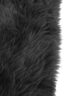 Black Sheepskin Up Close