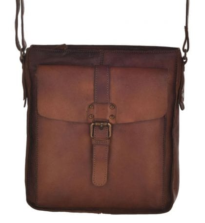 Genuine Vintage Leather Cross Body Bag-197254