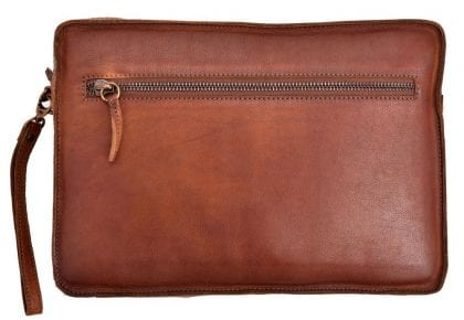 Genuine Vintage Leather Tablet Case - Back