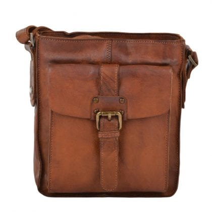 Small Genuine Vintage Leather Cross Body Bag