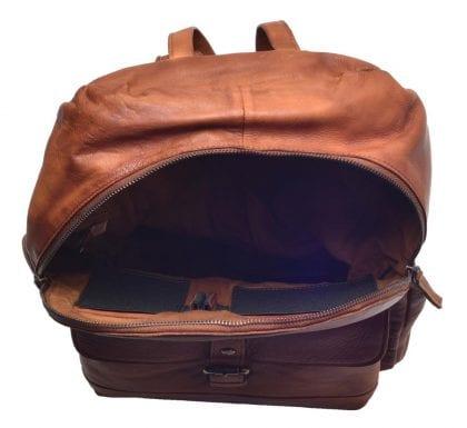 Large Genuine Vintage Leather Backpack-197235