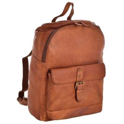 Large Genuine Vintage Leather Backpack-0