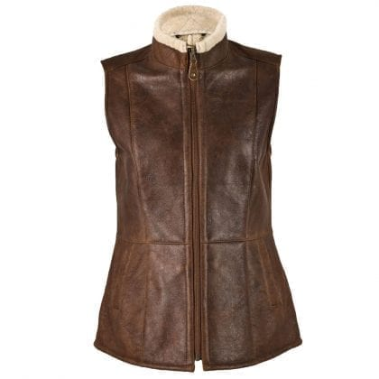 Ladies Aviator Finished Luxury Gillet - Body Warmer