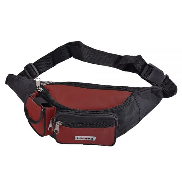 Lightweight Canvas Waist Bag - Bumbag in Red