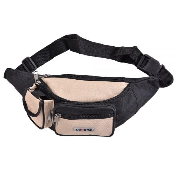 Lightweight Canvas Waist Bag - Bumbag in Beige