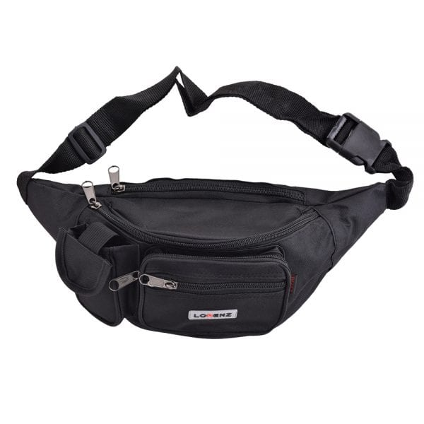 Lightweight Canvas Waist Bag - Bumbag in Black