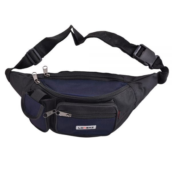 Lightweight Canvas Waist Bag - Bumbag in Blue