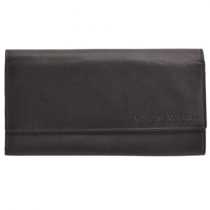 Soft Genuine Leather Travel Document Wallet