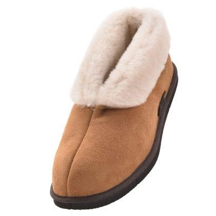 Ladies Full British Sheepskin Ankle Bootie Slipper with EVA Sole - Main