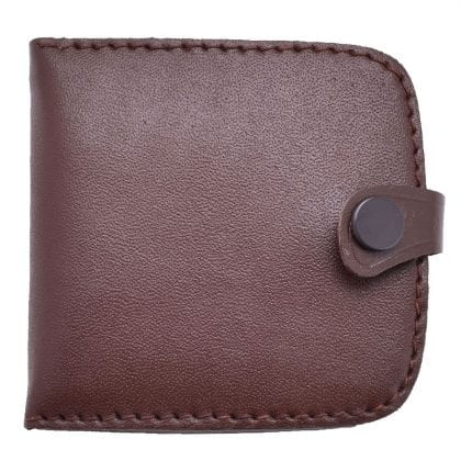Mens Genuine Leather Tray Coin Purse with Note Section-0