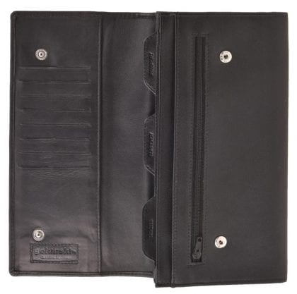Soft Genuine Leather Travel Document Wallet - Open