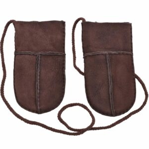 Genuine Sheepskin Lined Puddy Mitts with 'Keep Safe' Cord