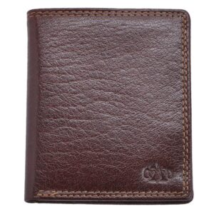 Arnicus Mens High Quality Grained Genuine Leather Slim Wallet - Main